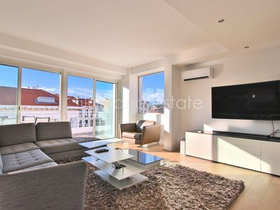 Photo for Magnificent roof terrace apartment in the center of Cannes