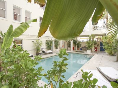 Photo for Heart of South Beach! 1 bedroom pool condo- walk to the beach