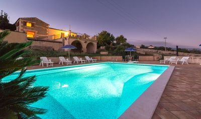 Photo for Diana, country villa with pool and panoramic view near the sea, for 7/10 p.