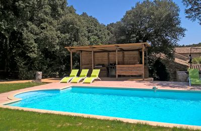 Photo for Full nature, private pool, between AVIGNON and UZES, Mas authentic Provence