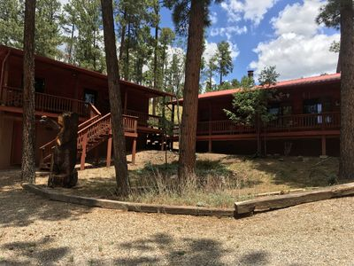 Photo for Beautifully decorated cabin with a Casita for the inlaws or additional guests.