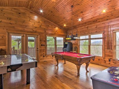 Photo for NEW! Gatlinburg Cabin w/Game Room, Hot Tub, Deck!