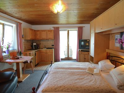 Photo for Flat in the Ammergau Alps - garden, outdoor seating and direct access to lake