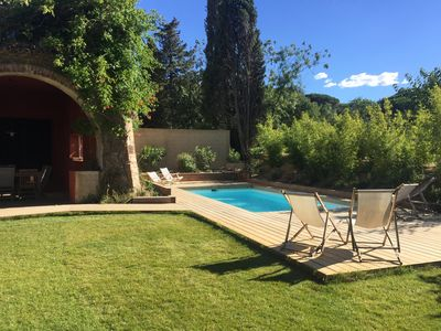 Photo for In an old country house, beautiful private heated pool villa 5 'from St Tropez