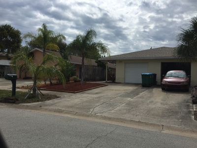 Photo for Short walk to beach (2 blocks), close to Banana River, safe, cable & internet