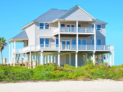 Photo for Beach Front 5BR 4BA Home - 2 Separate Living Areas & Pool Table - Close to Town