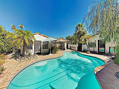 Photo for New Listing! Mountain-View Bungalow w/ Private Pool & Casita - Walk Downtown