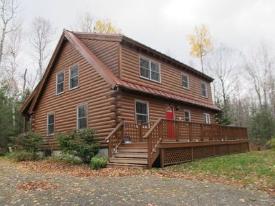 Photo for Nice log home nestled amongst large hard wood trees and in a very private location.