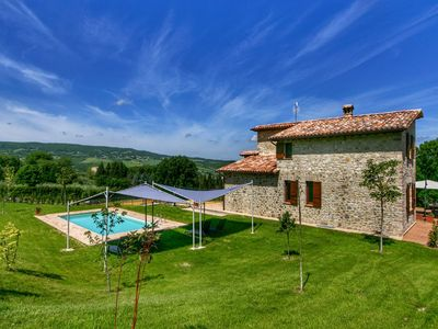 Photo for Villa with private pool, rural and modern decor, stunning views