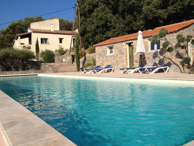 Photo for Languedoc, Very Beautiful Villa, stunning views, large swimming pool (20m)