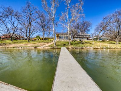 Photo for Large, lakefront home w/panoramic lake view, lake access, deck, and piano!