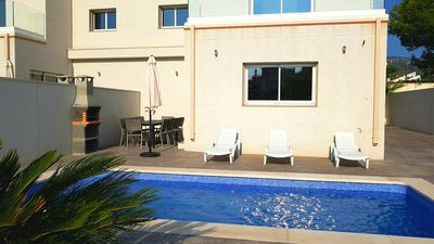 Photo for Villa Mestral Private Pool and Rooftop Terrace beside beach Full A/C free WIFI