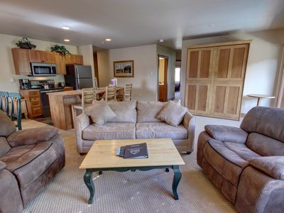 Photo for Views of the Pool and Hot Tub Area From Your Private Patio at Red Hawk 2243!