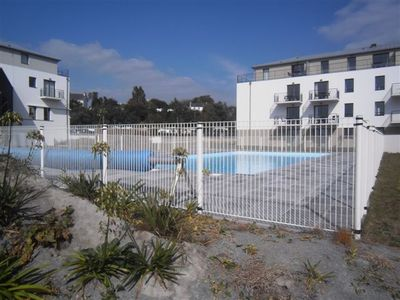 Photo for beautiful sea view apartment in Concarneau in White Sands, shared pool