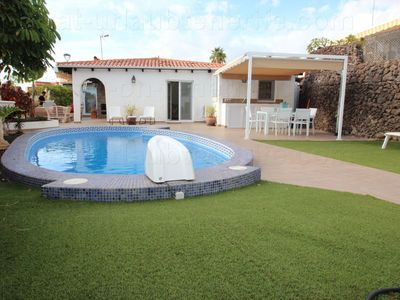 """Photo for private holiday house, garden and pool, at the """"Costa Adeje"""", quiet and central"""
