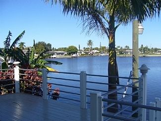 View from house, pool and dock