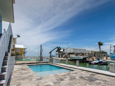 Photo for Ocean Jewel 3bed/3bath open water views, private pool & dockage