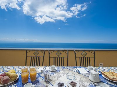 Photo for Home on the Amalfi Coast in a spectacular location with view of Furore