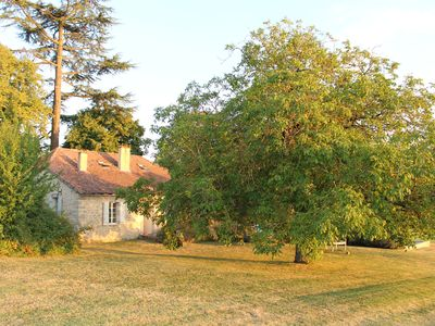 Photo for Luxurious stone farmhouse with private heated pool