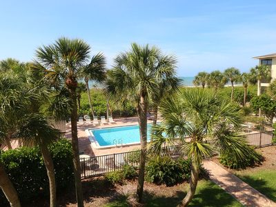Photo for Beautifully Renovated Corner Condo on Sanibel Island with Gulf and Pool Views - Tarpon Beach 204