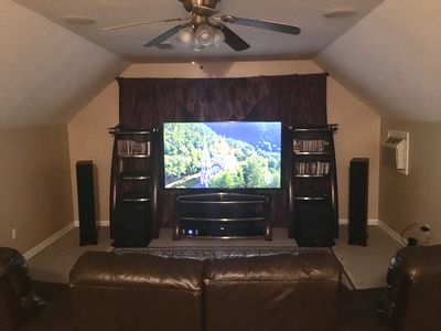 """Dolby Atmos home theatre with 75"""" 4K TV"""