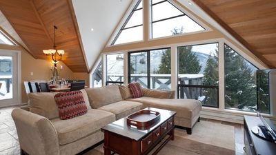 Living Room with Views to Whistler Village