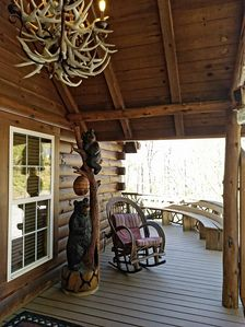 Front And Side View Of Wrap Around Porch With Views Of The Mountain And Woods