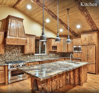 Luxury cabin & furniture - 2 Large Main Rooms, Pool Table, Theater Room