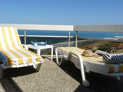 Photo for Comfortable apartment with large ocean view terrace, near Biarritz Golf Club