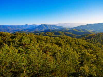 Photo for BEAUTIFUL SETTING TO EXPERIENCE THE SMOKIES! 4/6 W/ THEATER & AWESOME VIEWS!!