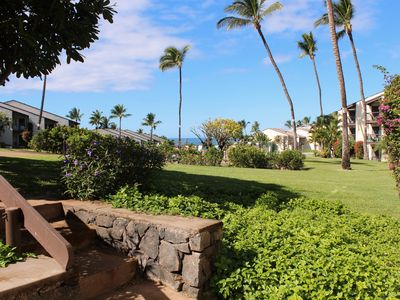 Photo for Ground Floor in Hale Kamaole.  Newly Remodeled and just Steps to the Upper Pool!