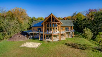 Photo for Log Home Lodge On Bluff Overlooking Mississippi River 115 Acres Estate