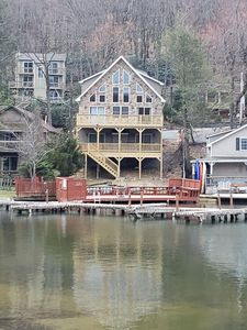 Photo for New! 4000 Sq Ft Lakefront Property With Private Dock Steps To Bars/Restaurants