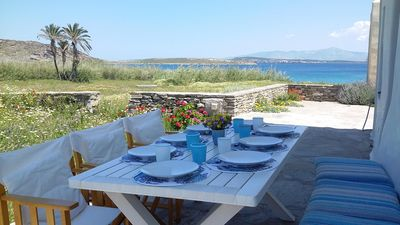 Photo for Beachfront-3 bedrooms-Paros- Peaceful-Idyllic-Rural-Traditional-Close to Naoussa