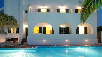 Photo for Apartments with sea view and pool (Santorini) as a cheap alternative to the hotel