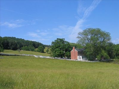 Back of Rose Hill seen from Hay field. Privacy, pastoral & Mountain views abound