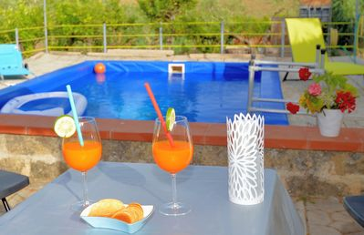 Photo for Holiday house with heated pool near the beach ideal for families