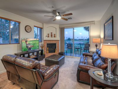 Photo for Superstition Lakes 3 BR Condo w/Fireplace & Balcony; Golf Views; Ideal Location