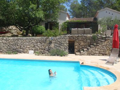 Photo for Comfort and serenity in our Provencal villa: private pool in the middle of the forest