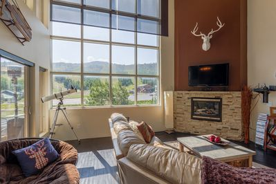 Living Room with Fireplace & Fantastic View