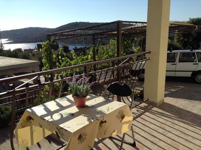 Photo for One bedroom apartment with terrace and sea view Kanica (Rogoznica)