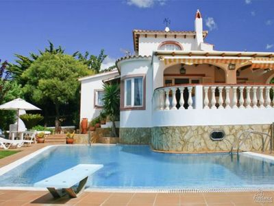 Photo for 3 bedroom Villa, sleeps 7 in Alaior with Pool and Air Con