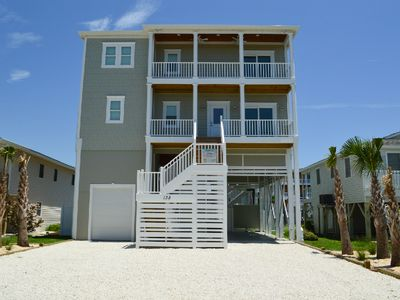Photo for Big Kahuna, private pool, dock, and 14 guests & 4 min walk to beach!