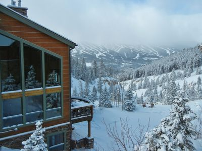 Photo for Incredible views, 3 private suites, hot tub, theater room and close to shuttle!