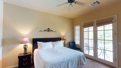 Photo for An Upstairs Legacy Villas Studio with a King Bed, Balcony and Mountain Views!