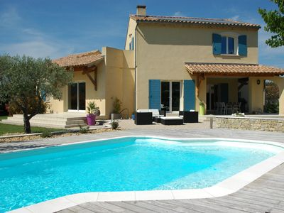 Photo for Malaucène, at the foot of Mont Ventoux, large provencal villa - pool and garden
