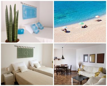 Photo for 70 meters from the beach for 2-6 persons, 3-bedrooms apartment + little garden
