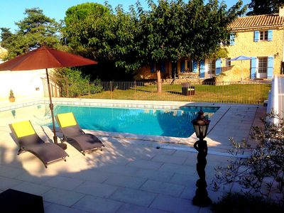 Photo for Typical Provençal farmhouse with secured pool - luxurious amenities