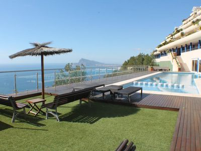 Photo for Superb apartment with panoramic sea view Altea