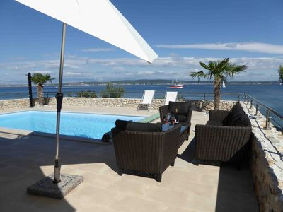 Photo for Villa for 6 people, facing the sea, pool, large terrace